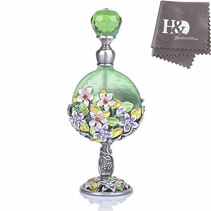 YUFENG - Frasco de Metal con diseño de Flores de Cristal (7 ml ...