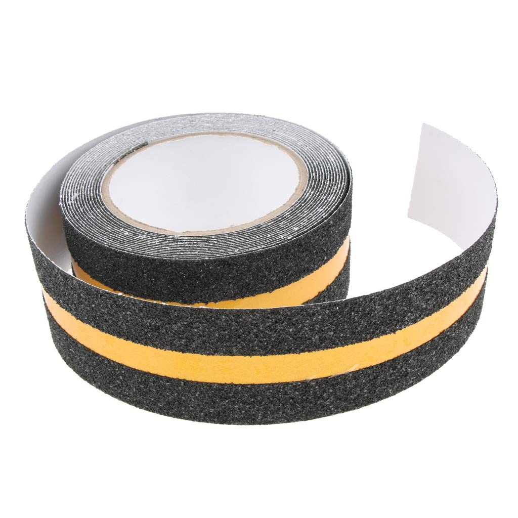 as Shown Indoor Outdoor Non Skid Tread High Traction Friction Friction Abrasive Adhesive Tape LOVIVER Non Slip Safety Grip Tape for Stairs Steps Dark Grey