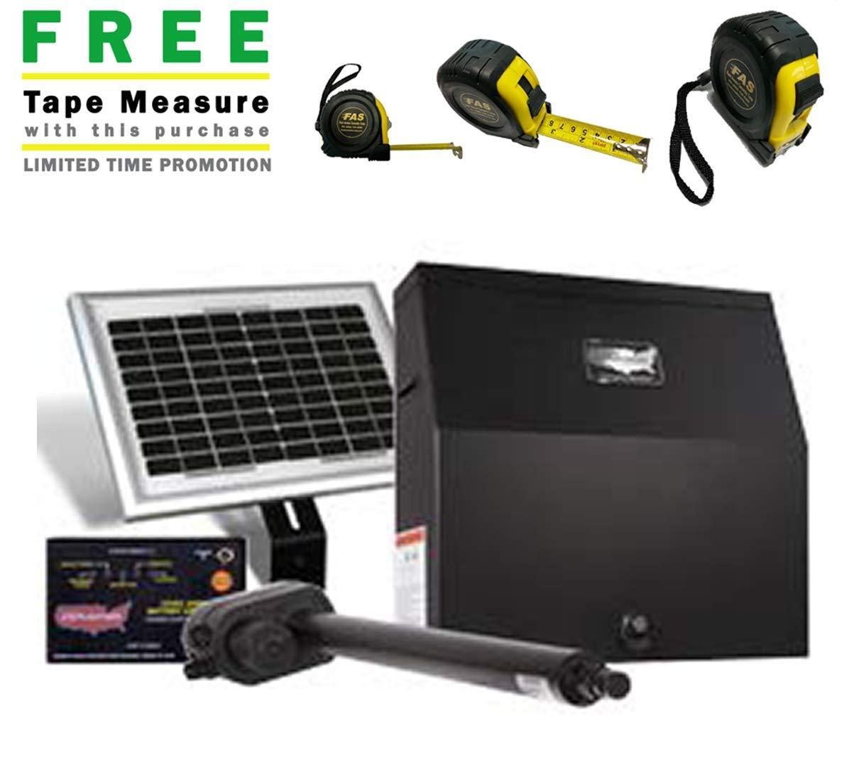 Amazon Com Usautomatic Patriot I Solar Charged Single Swing Gate