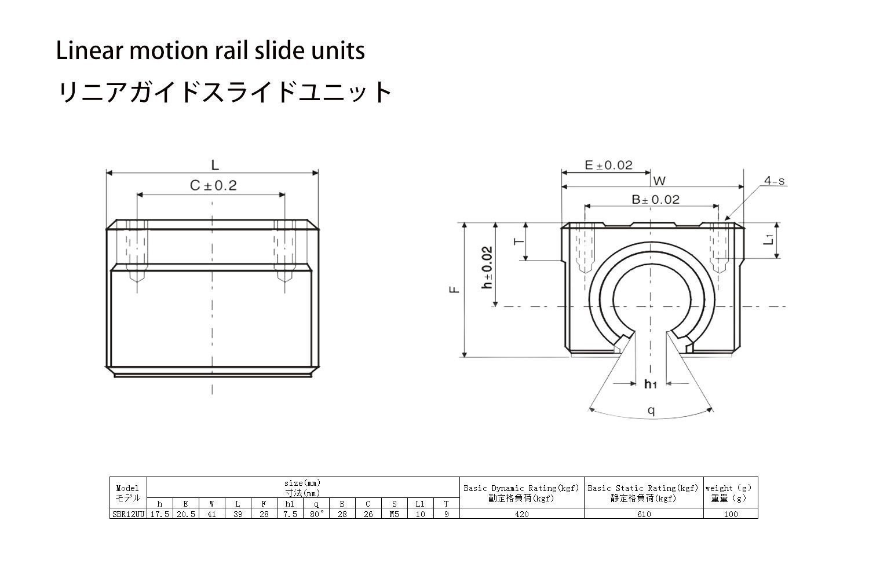 TEN-HIGH Linear Rail CNC Parts SBR12 12mm 1500mm 59.06inch Fully Supported Linear Rail+2pcs SBR12UU BlockBearing Block Bearing