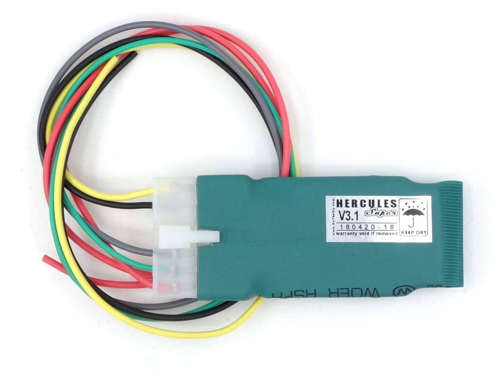 DoTheDiy Hercules Super Hazard Adapter for Bajaj Dominar 400/250,RS200, KTM Duke(125/200/250/390)/RC(125/200/390)(2019) Without 14-pin Connector (100 Patterns) (1 Year Warranty)
