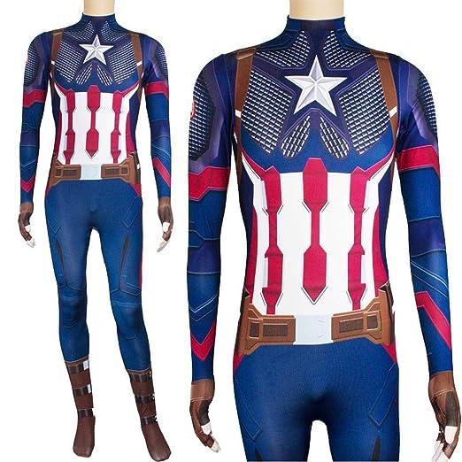 CHANG Cosplay Ropa Traje De Cosplay De Capitán América Marvel ...