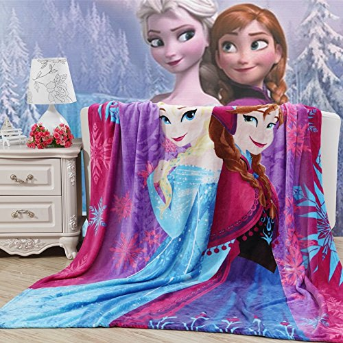 Blaze Children's Cartoon Printing Blanket Coral Fleece Blanket (40 By 55 Inch, Frozen)