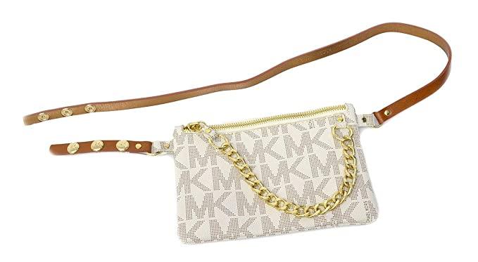 533a36f20805 Image Unavailable. Image not available for. Colour  Michael Kors MK Fanny  Pack Belt With Pull Chain ...