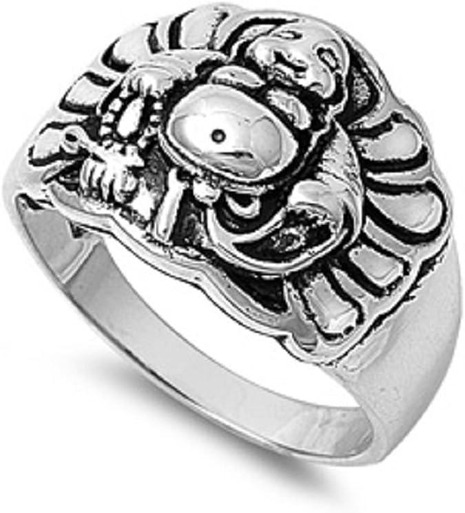 Princess Kylie 925 Sterling Silver Eternity Crosses Ring