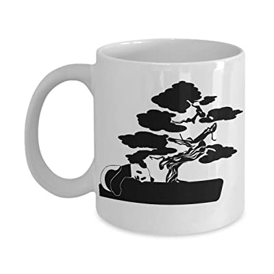 Panda Mug Bonsai Tree Coffee Cup Gift-Cute Bear Hidden: Kitchen & Dining