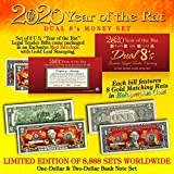 2020 CNY YEAR OF THE RAT DUAL 8's Chinese New Year OFFICIAL CURRENCY US Bill Set
