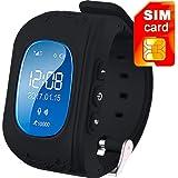 MAKECELL Samsung Galaxy A3 2017 Bluetooth compatible Q50 Kids Smart Watch (Black)