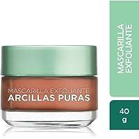 Mascarilla exfoliante, Arcillas Puras, L'Oréal Paris, 40g
