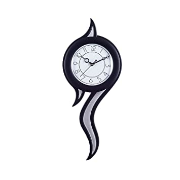 9d93d39ec Buy eCraftIndia Decorative Retro Plastic and Glass Pendulum Wall Clock  (12.5 cm x 2.5 cm x 45 cm