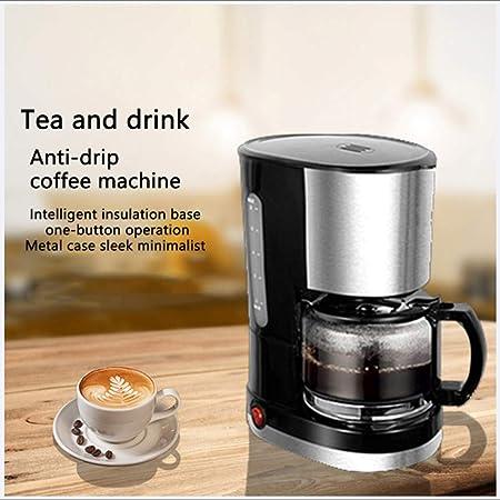Jackeylove Máquina de café automática Filtro Desmontable 600ML máquina cafetera para fácil Limpieza diseño Anti-Goteo Inicio-Negro: Amazon.es: Hogar