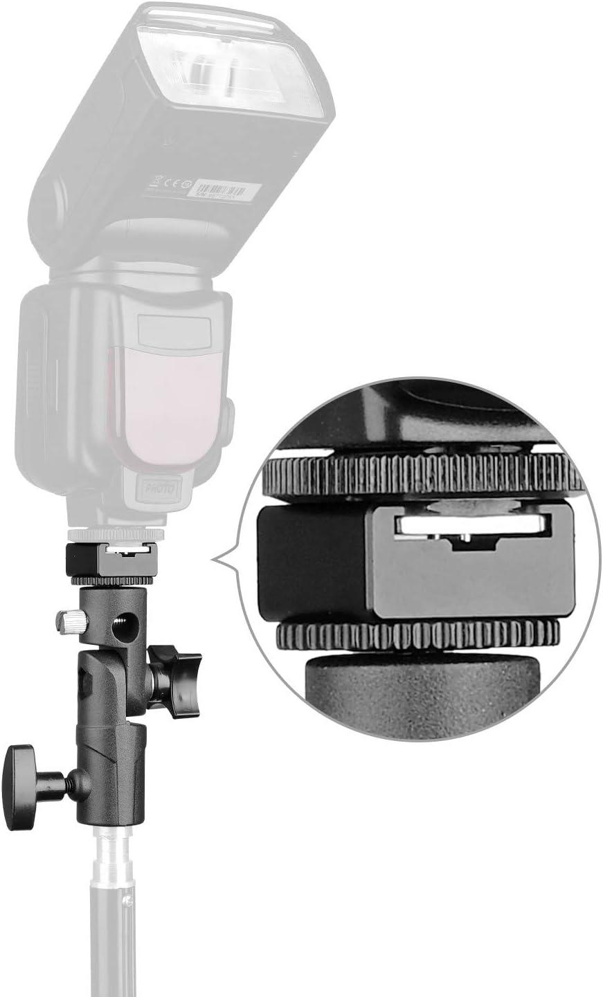 2Pack Anwenk Camera Flash Speedlite Mount Swivel Light Stand Bracket with Umbrella Reflector Holder for Camera DSLR Nikon Canon Pentax Olympus and Other DSLR Flashes Studio Light LED Light