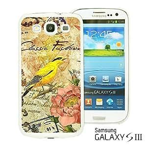 OnlineBestDigital - Art Paintings Hardback Case for Samsung Galaxy S3 III I9300 - Vintage Painting Birds and Flowers