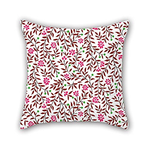 PILLO Throw Cushion Covers Of Flower 16 X 16 Inches / 40 By 40 Cm,best Fit For Boys,bar Seat,indoor,club,kids Boys,boy Friend 2 Sides