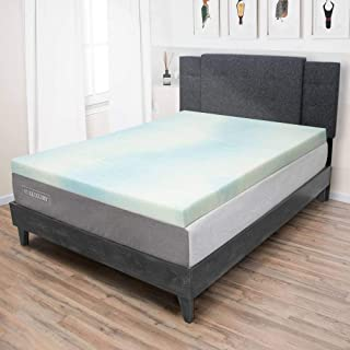 product image for eLuxurySupply Beautyrest 3 Inch Memory Foam Mattress Topper - Temperature Regulating Mattress Pad - 2 lb Density for High Support and High Response - CertiPUR-US Certified - Made in USA - Queen Size