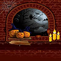 GladsBuy Halloween Wall 10 x 10 Computer Printed Photography Backdrop Halloween Theme Background LMG-077