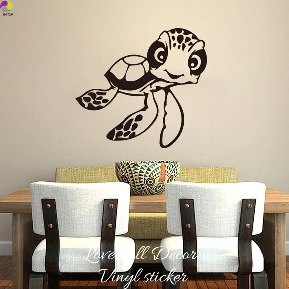 Cartoon Finding Nemo Turtle Wall Sticker Baby Nursery Kids Room Cute Ocean Sea Turtle Animal Bedroom Home Decor