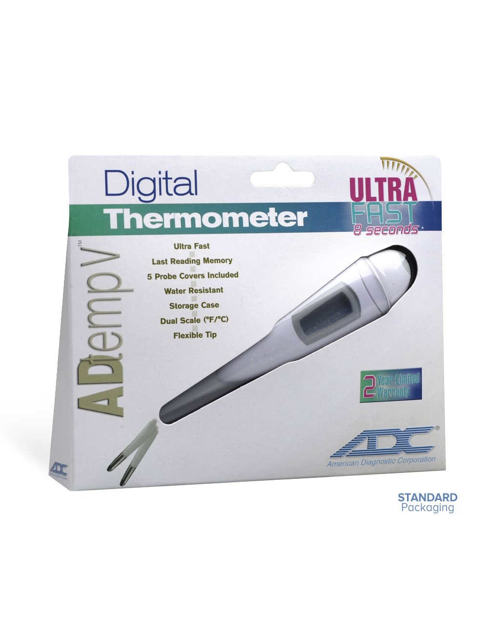 Amazon.com: ADC Fast Read Digital Thermometer with Color Coded Backlight, Adtemp 418N: Industrial & Scientific