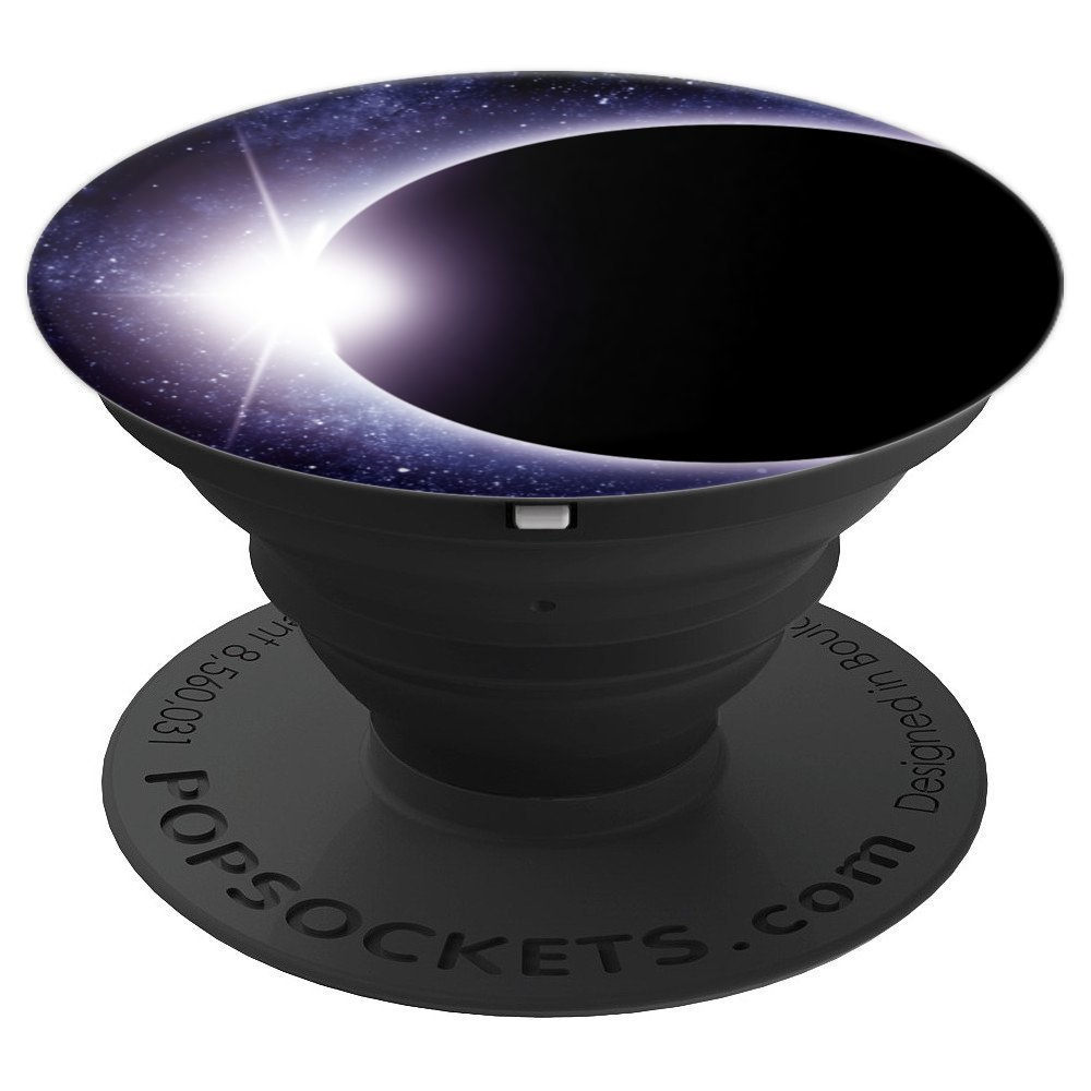 Cosmic Solar Eclipse Universe Galaxy And Stars Phone Grip - PopSockets Grip and Stand for Phones and Tablets