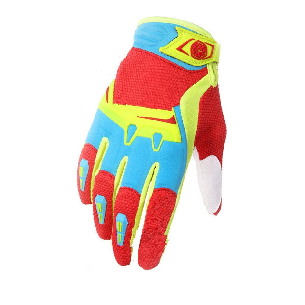 QARYYQ Outdoor Sports Vollfinger Motorrad Breathable Handschuhe Wandern Wandern Jagd Angeln Handschuhe, Gelb Handschuh (größe   M)