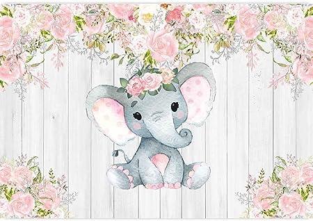 Allenjoy Rustikale Blumen Elefant Hintergrund Für Kamera
