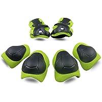 Schen Kit de Protectores de Rodilla, Codo y Mano 6pcs, Conjunto de Protectores para Niños y Adultos para Patinaje, Corredora de Maniobra y Ciclismo