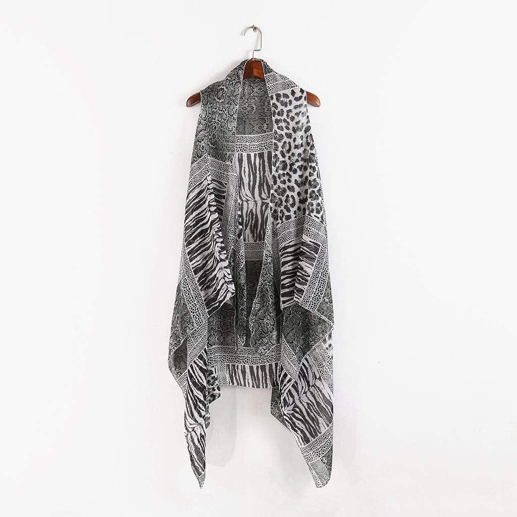 Haptian - Chaleco de Verano para Mujer, diseño de Leopardo, Rayas ...