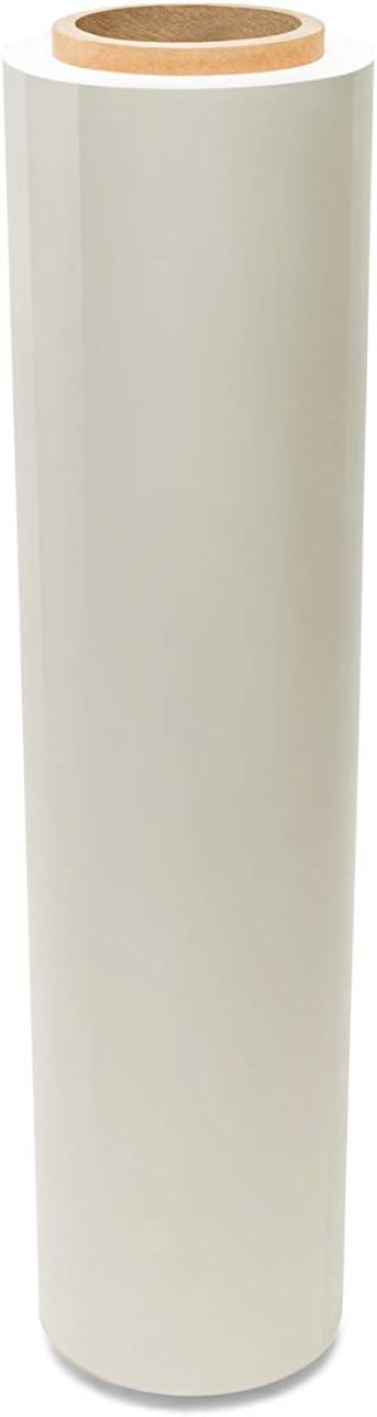 White Dark Color Stretch Film 15 Inch x 1500 Feet 63 Gauge Plastic Hand Wrap 256 Rolls
