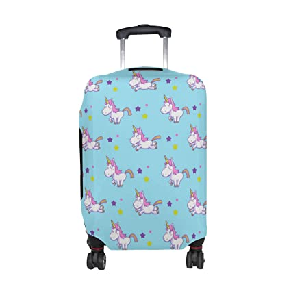 Amazon.com | LORVIES Unicorn Pattern Print Travel Luggage Protective Covers Washable Spandex Baggage Suitcase Cover - Fits 18-32 Inch | Packing Organizers
