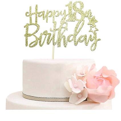 Amazon Happy 18th Birthday Cake Topper
