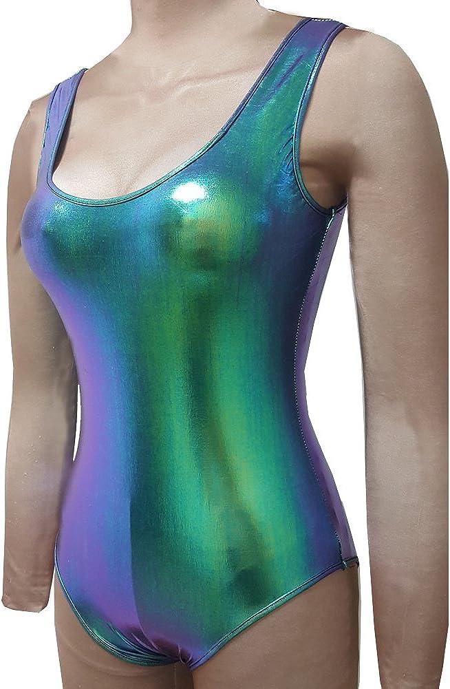 Amazon.com: Pinda - Traje de baño holográfico para mujer ...