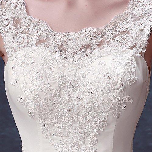Della un Sposa Fasciatura Cxy Spalle Da Bianco Del Sposa Vestito Pizzo Delle Nozze xl Di HfHSnOI
