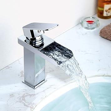 homelody robinet mitigeur pour lavabo robinet cascade chrom en laiton monotrou sur plage robinetterie salle de