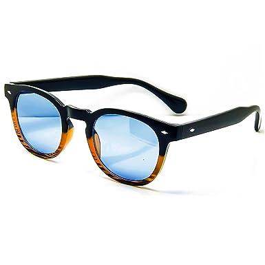 Lunettes de soleil KISS® de style MOSCOT mod. PLAT rond VINTAGE Johnny Depp homme femme CULTE unisexe - NOIR / rouge KNJwI67E