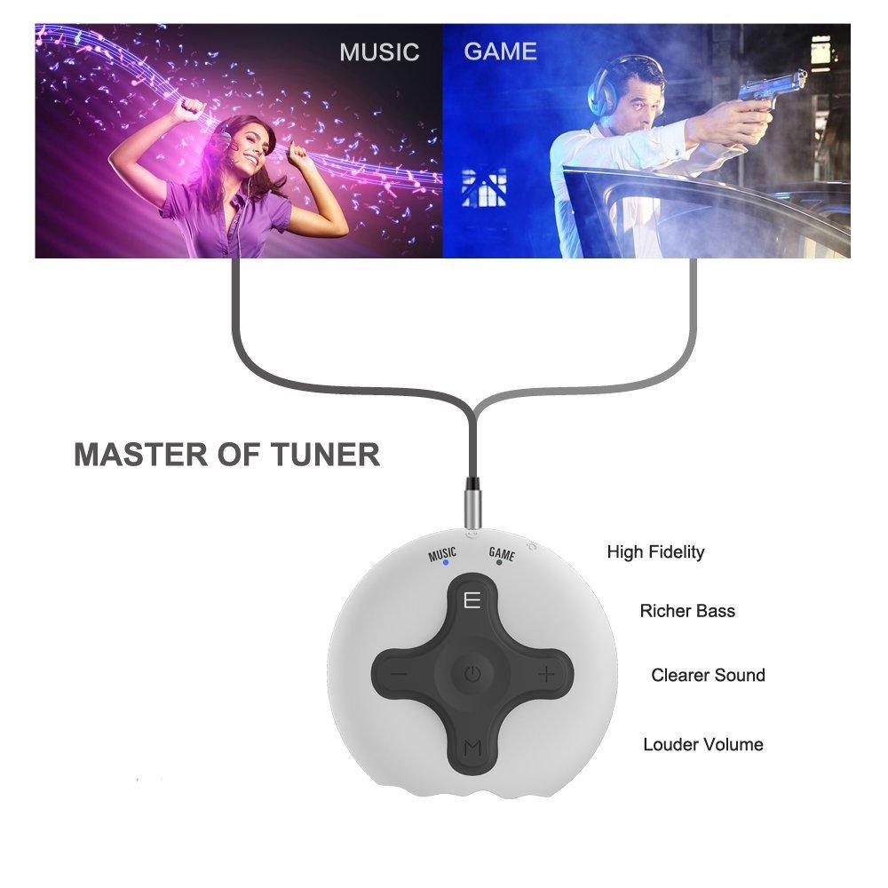 ABRAMTEK Bluetooth Receiver V4.2 Portable Wireless Audio Adapter Enhancer Headphone Amplifier Hands-Free Calling 3.5mm Stereo Jack Home Car Audio System by ABRAMTEK (Image #4)