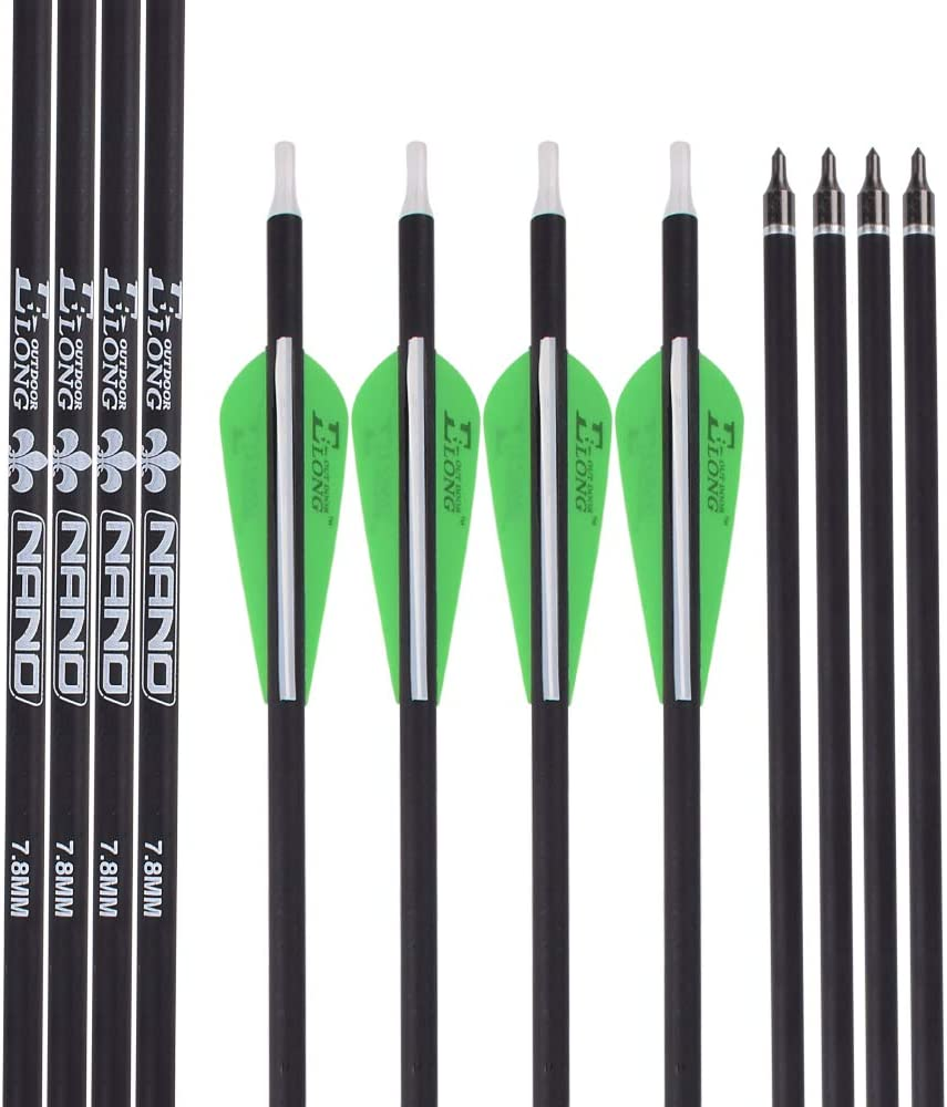 Ladieshow 30Pcs Rubber Soft Arrowhead Safety Arrows Tips for Outdoor Shooting Practice Entertainment