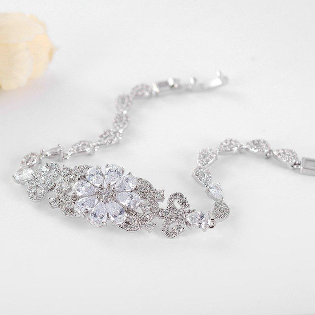 Aooaz Gold Plated Bracelet Women Girl Flower Leaf Bangle Bracelet Wedding Promise Gift