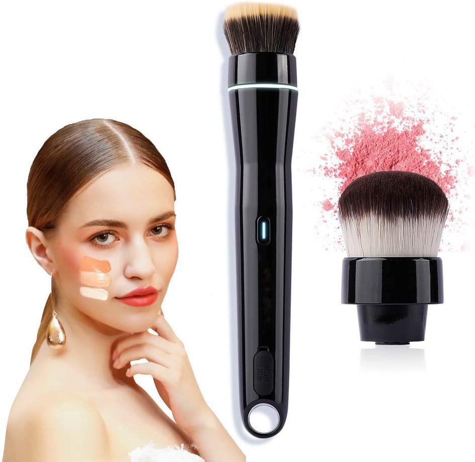 Electric makeup brush with 360 Degree Rotating USB Rechargeable