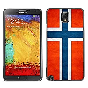 Shell-Star ( National Flag Series-Norway ) Snap On Hard Protective Case For Samsung Galaxy Note 3 III / N9000 / N9005