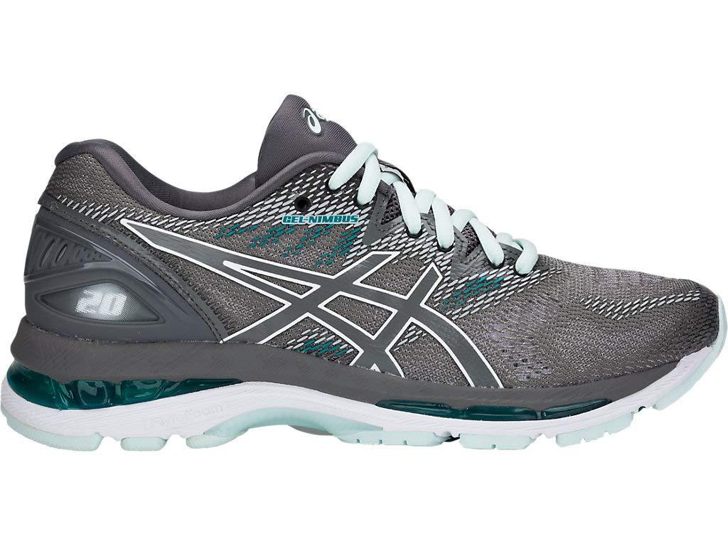 ASICS Women's Gel-Nimbus 20 Running Shoes, 6M, Carbon/Carbon by ASICS