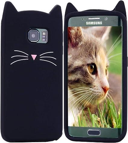 HopMore Gato Funda para Samsung Galaxy S7 Edge Silicona Motivo 3D Divertidas One Piece Kawaii Carcasa Samsung S7 Edge Ultrafina Slim Case Antigolpes Caso Protección Cover Design Gracioso: Amazon.es: Electrónica