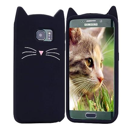 HopMore Gato Funda para Samsung Galaxy S7 Edge Silicona Motivo 3D Divertidas One Piece Kawaii Carcasa Samsung S7 Edge Ultrafina Slim Case Antigolpes ...