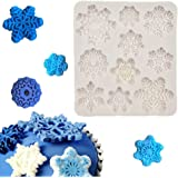 Snowflake Christmas Silicone Fondant Tools Snowflake Mold for Cake Baking Decoration Mold Ice Snowflake Cookie Cutters Mold 1 Piece