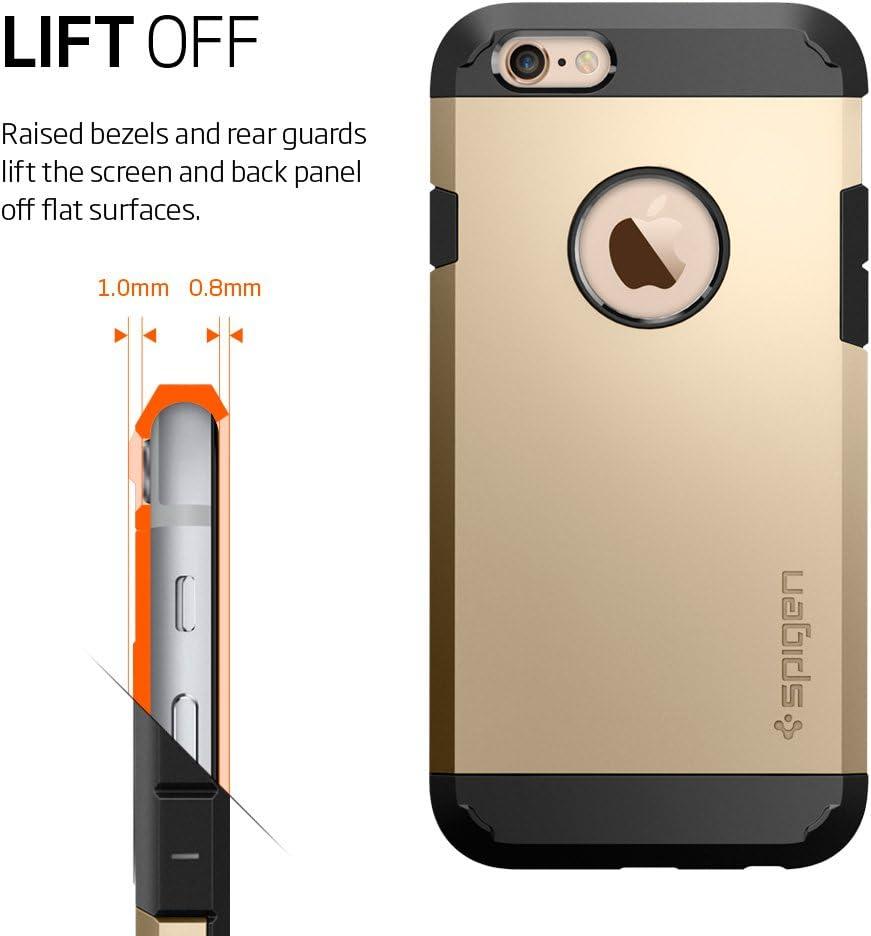 Spigen Case for iPhone 6//6S Black Air Cushion Technology Hard PC Back Flexible TPU Slim Protection Slim for iPhone 6s Case // iPhone 6 Case SGP11614 Tough Armor