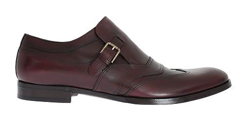 Dolce & Gabbana - Mocasines de Otra Piel para Hombre Rojo Granate, Color Rojo,