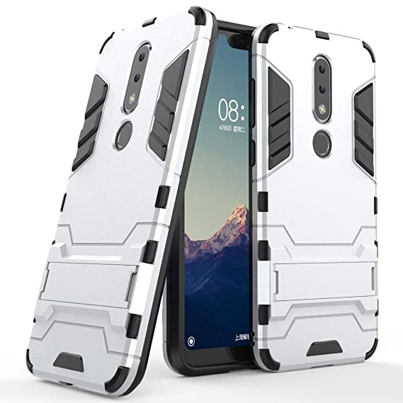 finest selection 1b37d 45e48 Amazon.com: Nokia 6.1 Plus Case, Nokia 6.1 Plus Hybrid Case, Dual ...
