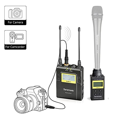 Saramonic UWMIC9 Profesional UHF portátil, receptor inalámbrico y ...