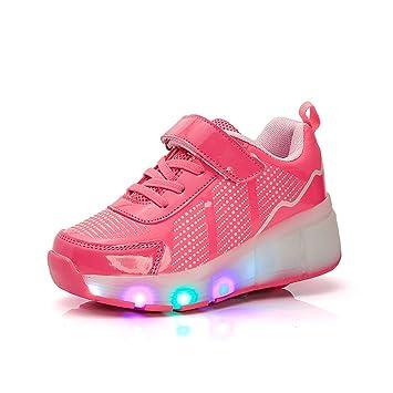 Nuevo Niño Heelys Jazzy, Junior Niñas Niños Luz LED Heelys zapatos de para patines para niños zapatillas deportivas con ruedas, rosa, 2: Amazon.es: Deportes ...