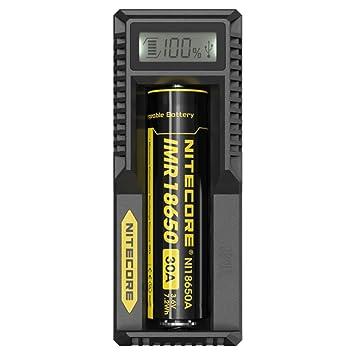 Nitecore UM10 DIGITAL cargador para AA 18650 16340 18500 14500 18350 18700 PANTALLA LCD (D2 D4 I2 I4 UM20)