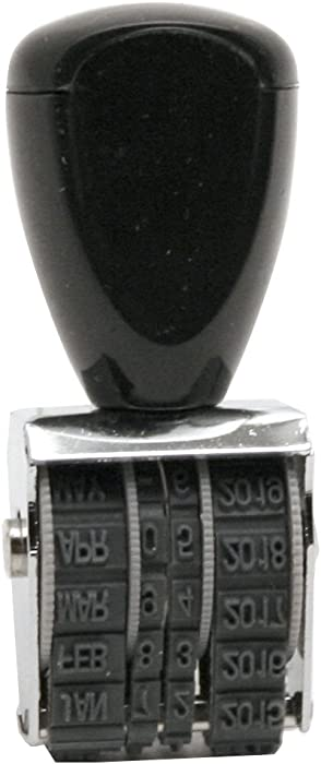 Traditional Rubber Date Stamp, Type Size 0, Black (RD000)
